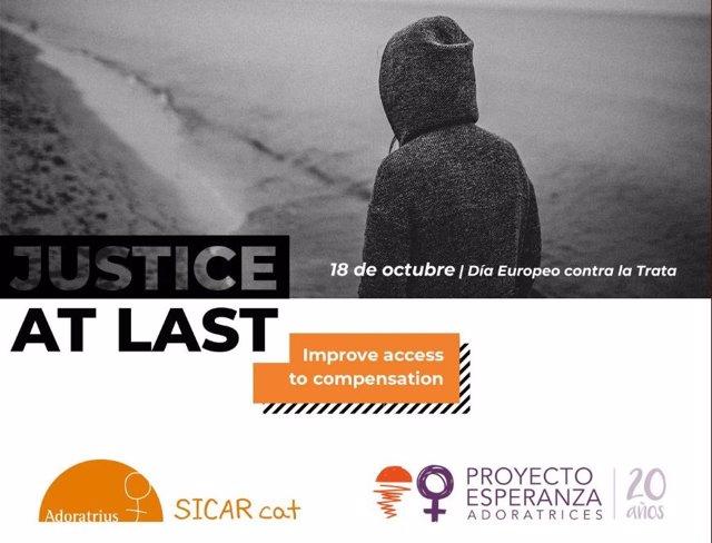 Campaña para el acceso a la justicia de las víctimas de trata.