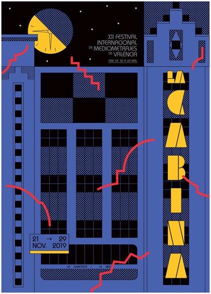 """El diseñador gráfico de Rosalía plasma la """"atmósfera nocturna"""" del cine en el cartel de La Cabina"""