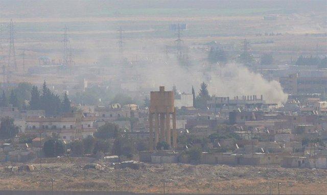 Bombardeos en Ras al Ain