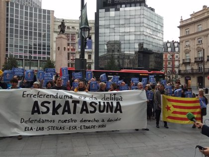 Más de 200 movilizaciones de sindicatos nacionalistas denuncian en Euskadi y Navarra la sentencia del procés