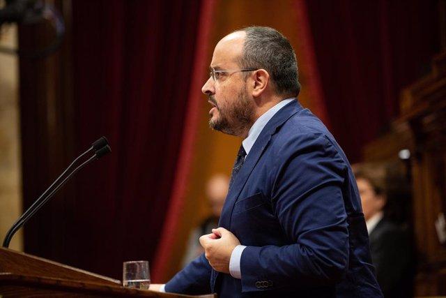 Alejandro Fernández (PP) intervé al Parlament de Catalunya
