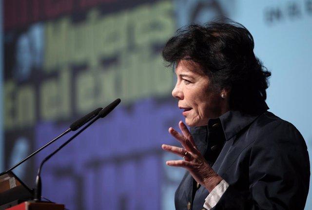La ministra d'Educació, Formació Professional i Portaveu del Govern central en funcions, Isabel Celaá.