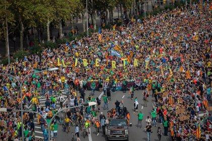 Las 'Marxes per la Llibertat' de Vic y Berga llegan al avituallamiento en Barcelona