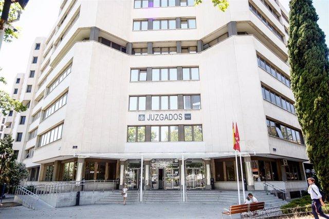 Imágenes de los Juzgados de Instrucción ubicados en la Plaza de Castilla de Madrid.