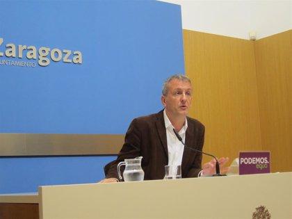 """Podemos-Equo dice que el convenio con el Real Zaragoza es """"humo y mentira"""""""
