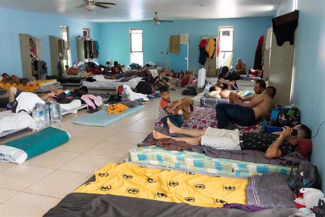 Centro de migrantes en Reynosa