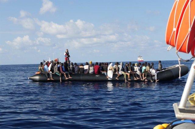Rescate del 'Ocean Viking'
