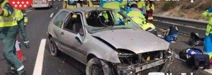 Muere un conductor al salir su coche de la A3 y dar varias vueltas de campana