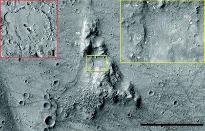Evidencia de un antiguo manantial de agua termal en Marte