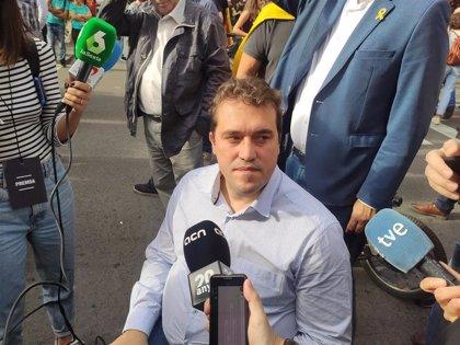 """Bonvehí (PDeCAT) dice que """"la Cataluña real"""" es la que se manifiesta este viernes y no la de los incidentes"""