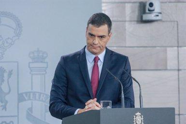 """Sánchez carrega contra Torra per """"banalitzar"""" la violència i insisteix a respondre amb """"moderació"""" per """"calmar els ànims (Ricardo Rubio - Europa Press)"""