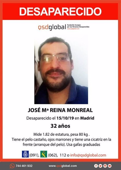 Buscan a un hombre de 32 años desaparecido desde el martes en Madrid