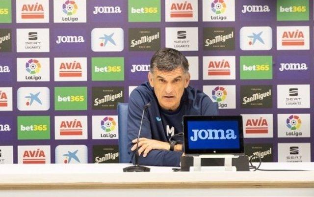 El entrenador del SD Eibar, José Luis Mendilibar, en rueda de prensa