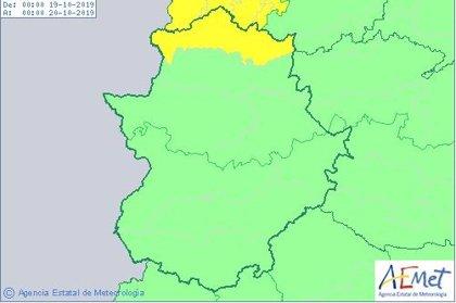 El 112 activará este sábado la alerta amarilla por lluvia en el norte de la provincia de Cáceres