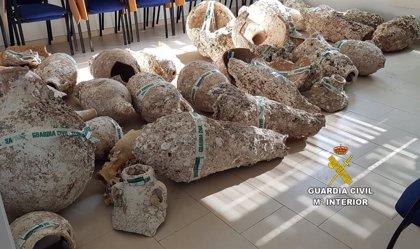 Recuperadas más de 100 piezas históricas expoliadas de yacimientos subacuáticos de Formentera