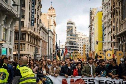 Mesquida acude a la manifestación de Jusapol en Madrid por la equiparación salarial entre Fuerzas y Cuerpos de Seguridad