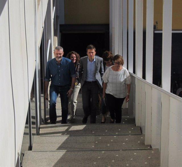 El candidat a la presidència per Més País-Equo, Íñigo Errejón, que ha visitat aquest dissabte al matí Múrcia, per presentar el projecte per a les eleccions generals del 10N davant la ciutadania murciana.