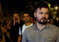 Gritos, insultos y abucheos a Rufián en la manifestación en Barcelona