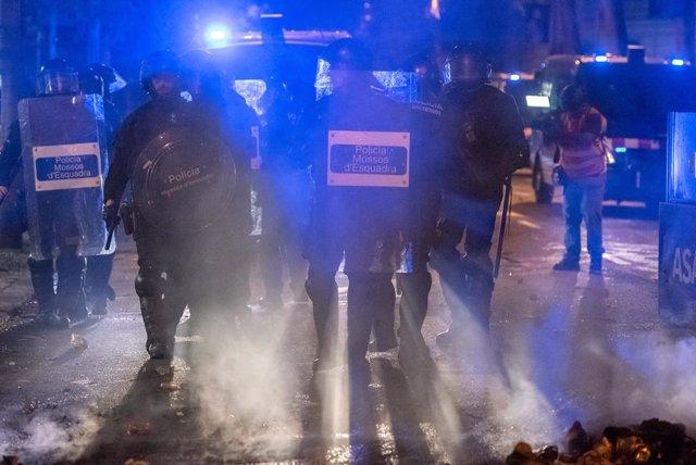 Sisena jornada de protestes a Barcelona contra la sentència del Suprem pel 'procés'.