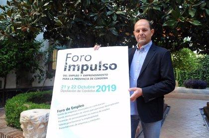 La Diputación de Córdoba inaugura este lunes el Foro Impulso del Empleo y Emprendimiento
