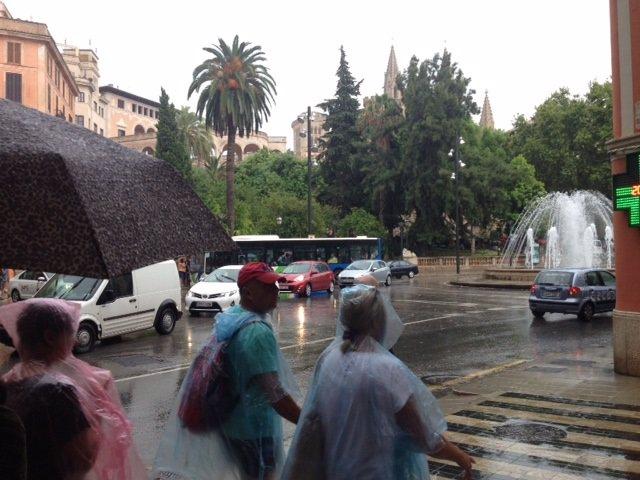 Lluvia en Palma.