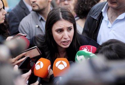 """Irene Montero acusa a Sánchez de """"seguir los pasos de Rajoy"""" en Cataluña y de hacer """"electoralismo"""""""