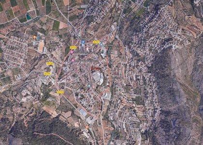 Herido un motorista de 63 años tras chocar contra un coche en Orba (Alicante)