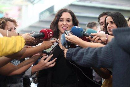 """Díaz-Ayuso dice no permitirá """"dejación de funciones"""" del Gobierno tras la manifestación independentista"""