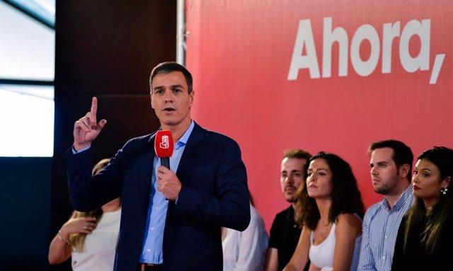 El secretari general del PSOE i president del Govern central en funcions, Pedro Sánchez.
