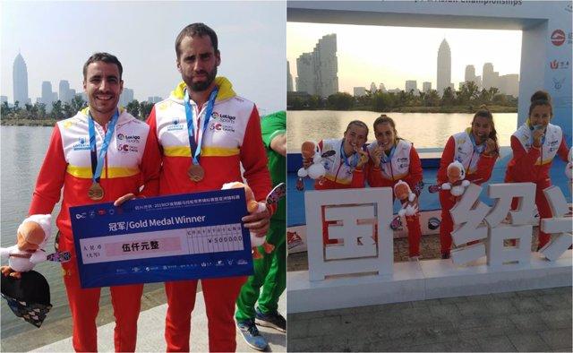 Tono Campos i Diego Romero guanyen l'or aC2 al Mundial de piragüisme marató; Tania Fernández, Tania Álvarez, Irati Osa i Arantza Toledo, plata i bronze a K2.