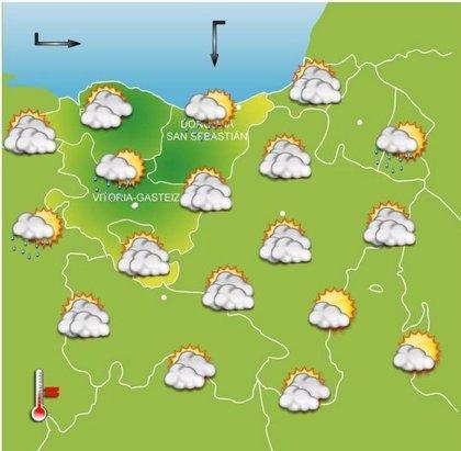 Lluvia y temperaturas frescas este lunes en Euskadi