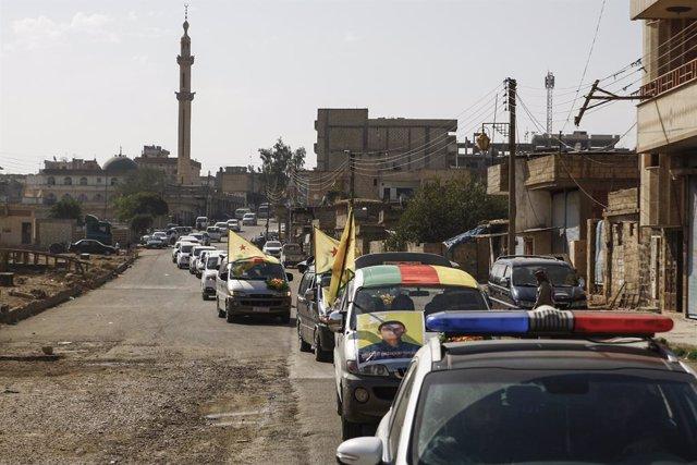 Siria.- Las FDS concluyen la evacuación de Ras al Ain, en la frontera con Turquí