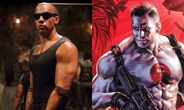 Vin Diesel junto a su homólogo en los cómics