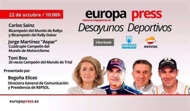 Motor.- Aspar, Carlos Sainz y Bou repasan medio siglo de éxitos de Repsol en el