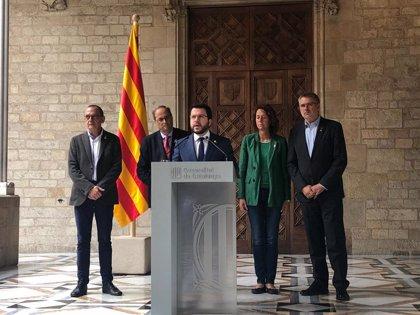 """Aragonès reprocha a Sánchez que solo """"se interese por sus policías"""" en su visita a Barcelona"""