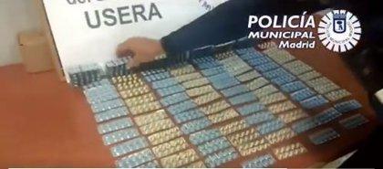 Requisadas en Usera 1.730 pastillas que se vendían como sustituto de Viagra