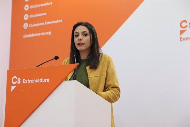 La candidata de Cs al Congrés per Badajoz María José Calderón