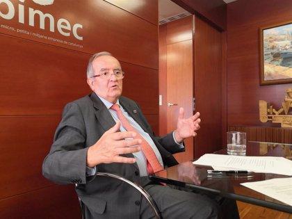 """González (Pimec) dice que """"no tiene sentido"""" la escalada de no hablar de Sánchez y Torra"""