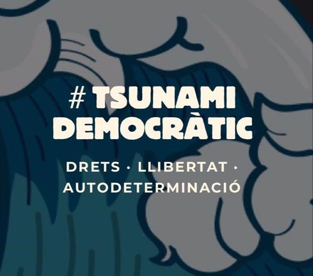 Imatge de portada del web de Tsunami Democràtic