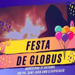 """Els CDR convoquen una """"festa de globus"""" per llançar pintura davant la Conselleria d'Interior"""