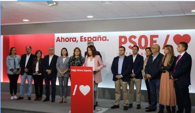 Candidatos del PSOE por Cáceres y Badajoz a las elecciones del 10 N