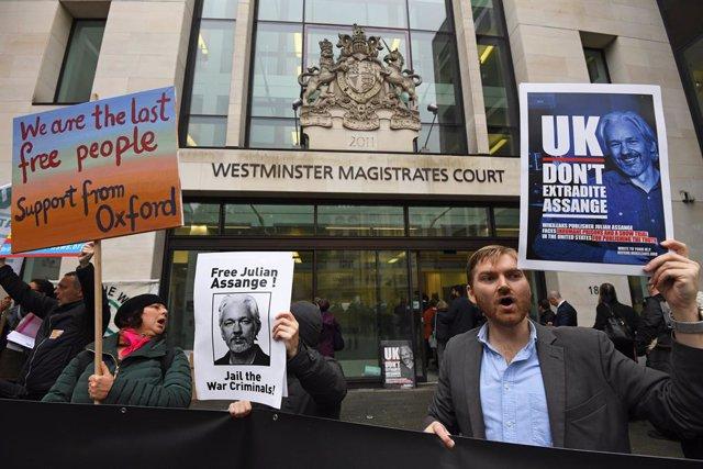 Wikileaks.- Una jueza rechaza aplazar el proceso sobre la posible extradición de