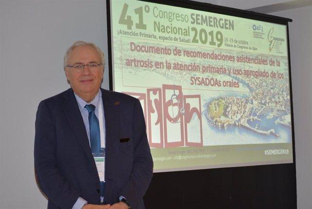 El doctor Josep Vergés en el Congreso Semergen