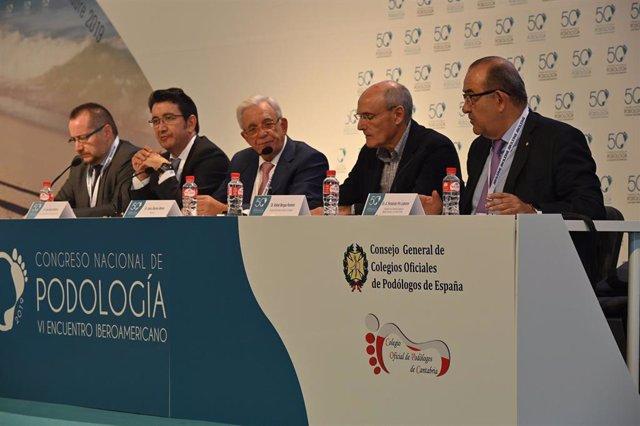 De izquierda a derecha: José Luis Baquero, José García Mostazo, Jesús Sánchez Martos, Rafael Bengoa y Antonio Fernández-Pro Ledesma.
