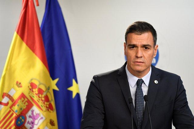 Rueda de prensa en Bruselas del presidente del Gobierno, Pedro Sánchez, tras la reunión del Consejo Europeo