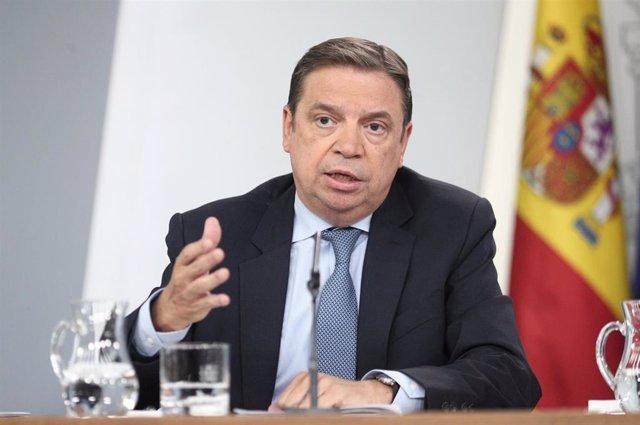 El ministre d'Agricultura, Pesca i Alimentació en funcions, Luis Planas, compareix davant els mitjans de comunicació després de la reunió del Consell de Ministres a La Moncloa, a Madrid (Espanya), a 4 d'octubre de 2019.