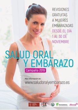 Cartel de la 'III Campaña Salud Oral y Embarazo'