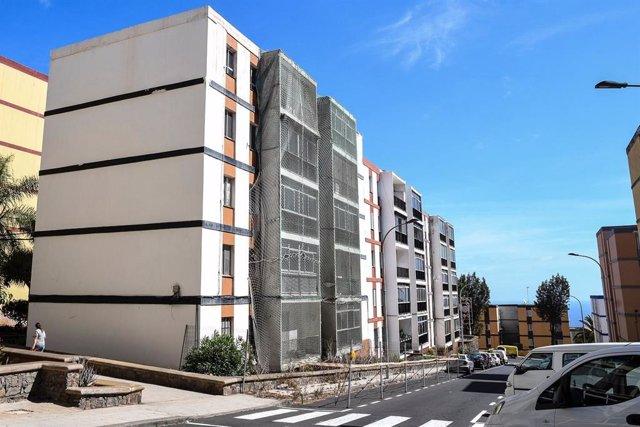 Viviendas afectadas por aluminosis en el Barrio de Las Chumberas
