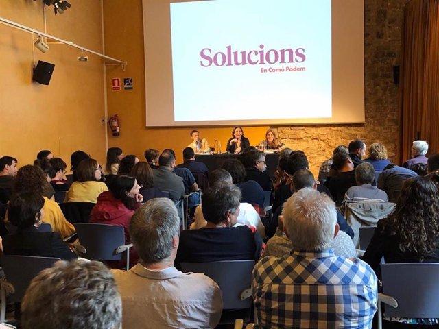 Trobada de càrrecs dels comuns a Barcelona per abordar la sentència