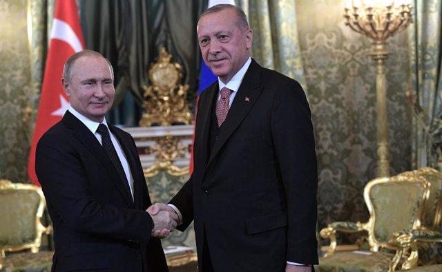 Els presidents de Rússia, Vladimir Putin, i Turquia, Recep Tayyip Erdogan
